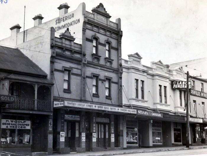 Town Hall Hotel Paddington 1949 ANU