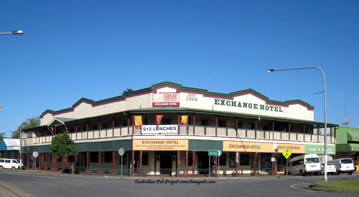 exchange hotel mossman Qld TG W 2