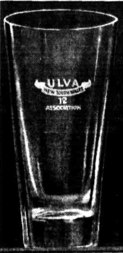 ulva 12 oz glass 1941