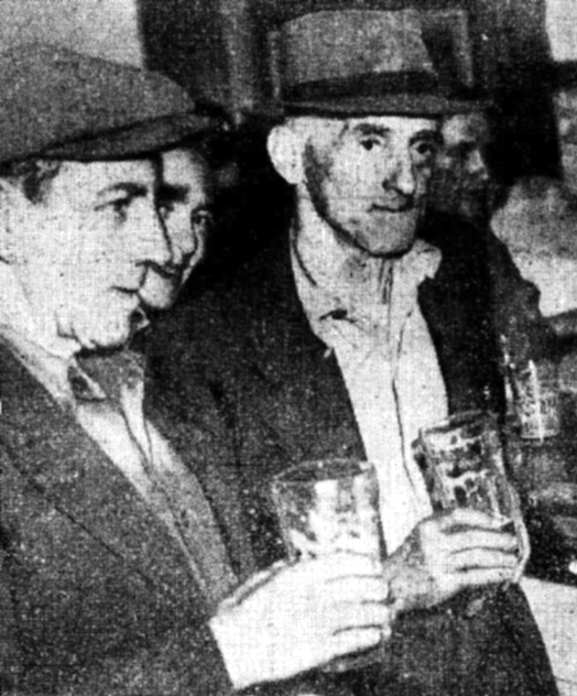 Stan Warren and Rowley Collins at the Old Commodore Hotel North Sydney February 1948