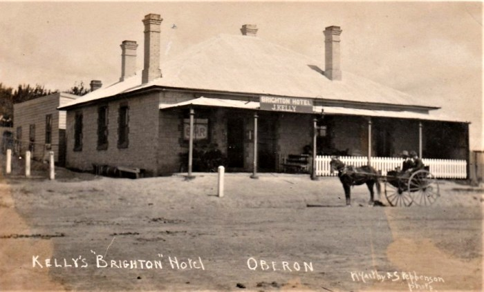 Brighton Hotel Oberon JJ Kelly proprietor