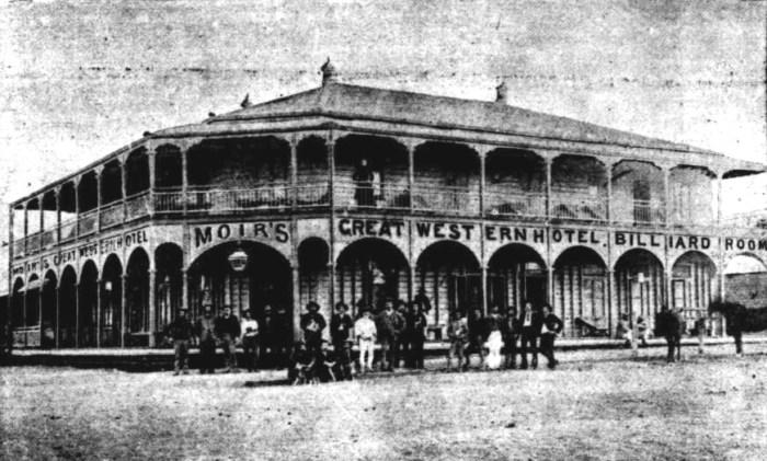 Great Western Hotel Hughenden Queensland 1892
