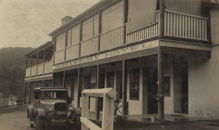 Hawkesbury Hotel later Wisemans Inn Hotel Wisemans Ferry March 1930 NBA ANU