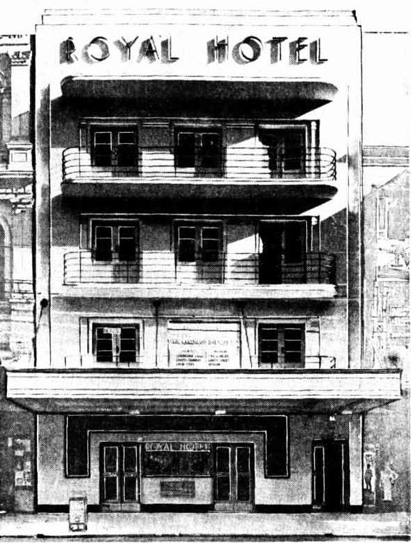 Royal Hotel Brisbane 1937