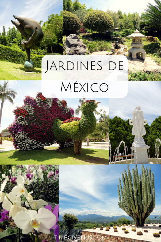 The Jardines de México is a lovely spot to get away on the weekend if you live in Central Mexico and a worthwhile destination even for a tourist if you are spending a lot of time in Mexico City or Cuernavaca and love visiting botanical gardens. It's called Jardines de México because it is actually a group of themed gardens, based on the style (like Italian or Japanese) or the type of plant it features (like cactus or orchids) or just some fun ones like the sculpture garden or the kids area. It's a lovely spot to wander around for the day with friends or family and get away from the hustle and bustle of the daily grind.