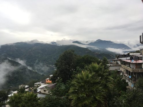 Clouds amongs the city of Huautla