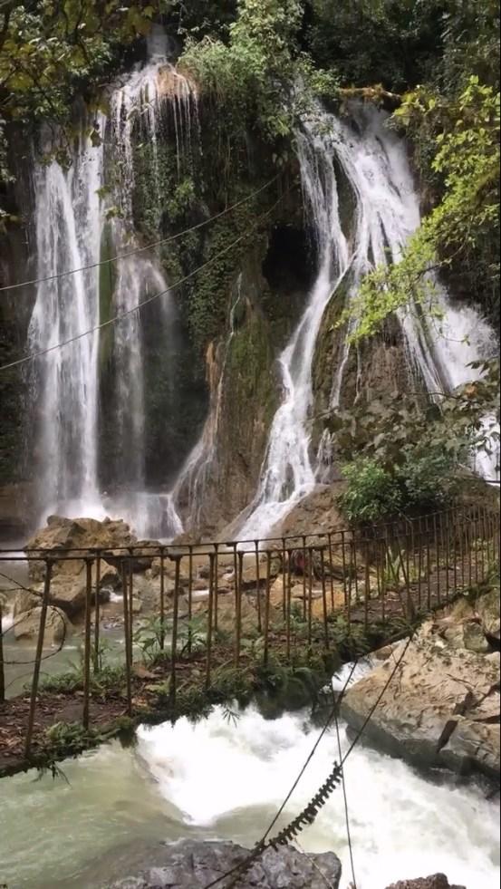 The waterfall at Puente de Fierro