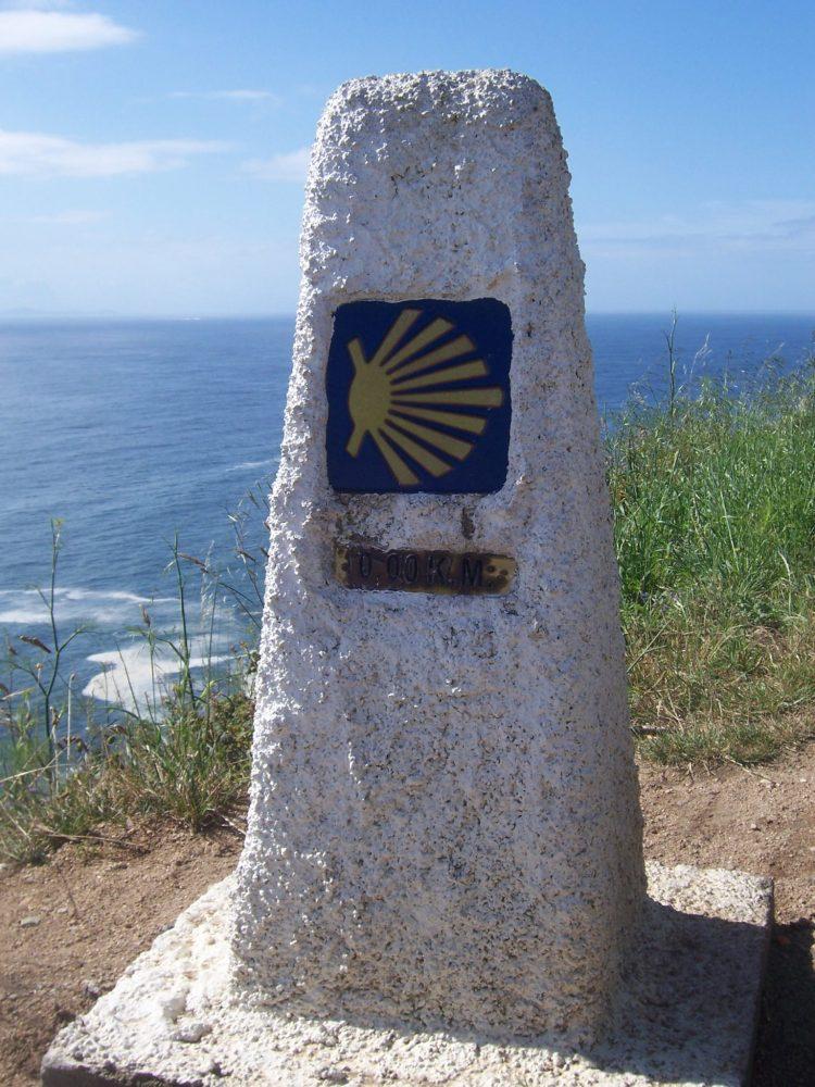 El Camino sign in Finesterre