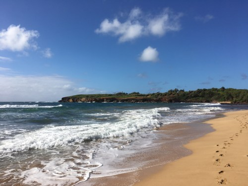 Maha'ulepu beach in Kauai