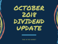 Time in the Market Dividend Review – October 2018 – Late ETF Dividends