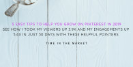 Five Tips to Help You Grow On Pinterest : How I Skyrocketed My Views in 30 Days