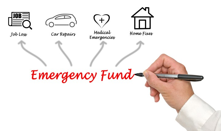 Hand writing down all the ways an emergency fund can be used