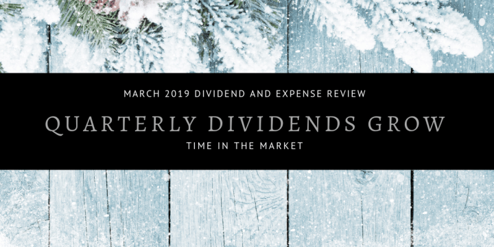 Dividend and Expense Review – March 2019 – Quarterly Dividends Grow