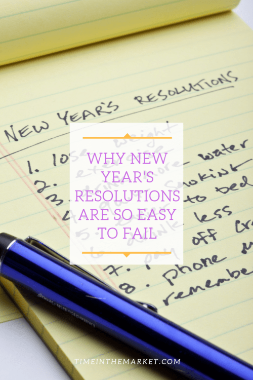 New year's resolutions are easy to fail