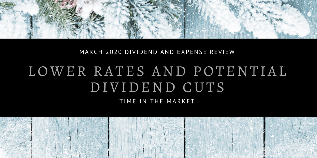 Dividend and Expense Review – March 2020 – Lower Rates and Dividend Cuts