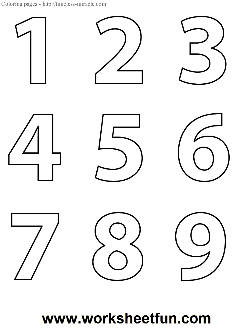 numbers to color v.2  timelessmiracle