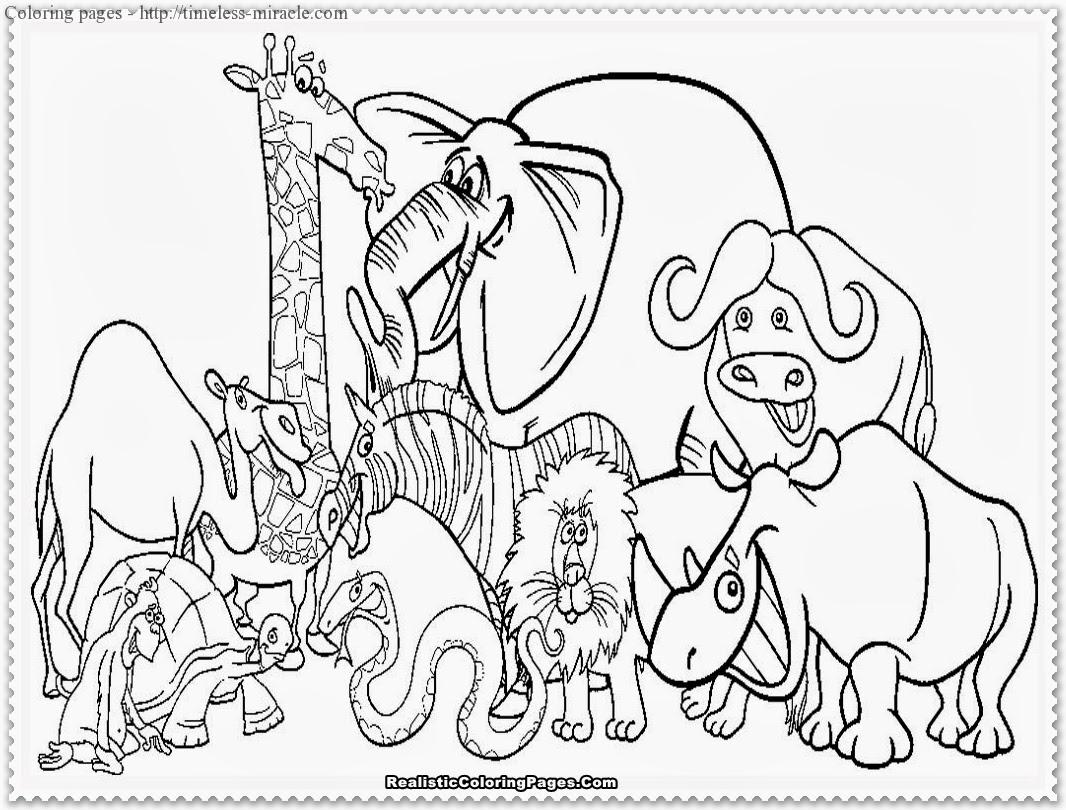 Coloring Pages Of Rainforest Animals