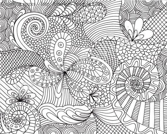 Intricate Coloring Pages Printable Timeless Miracle Com