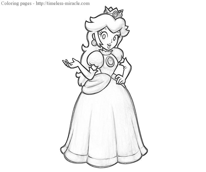 Princess Daisy Coloring Pages Photo 17 Timeless Miracle Com