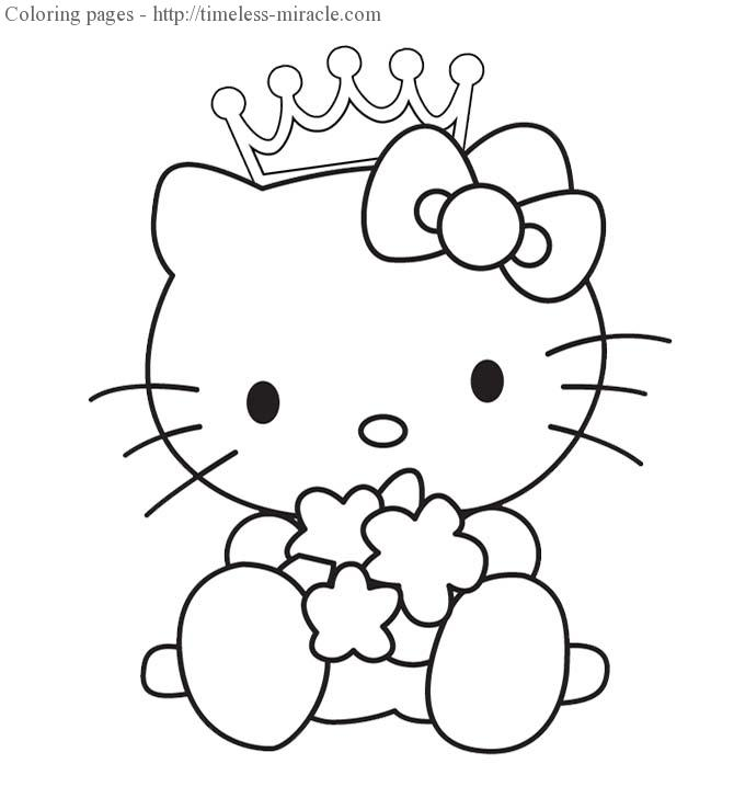 20 photos to princess hello kitty coloring pages