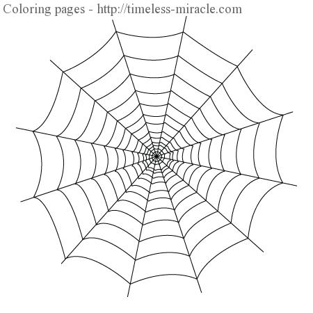 20 photos to spider web coloring page