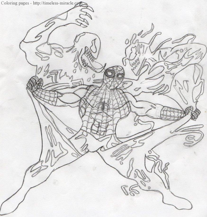 Spiderman Vs Venom Coloring Pages Photo 5 Timeless Miracle Com