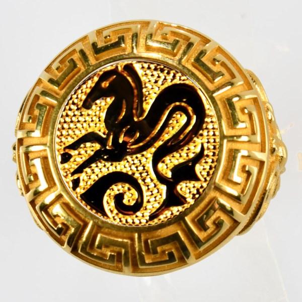 anello giallo ippocampo giallo