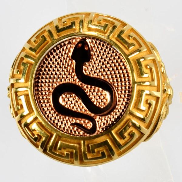 anello giallo vipera rossa