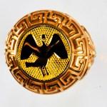 anello rosso cigno giallo