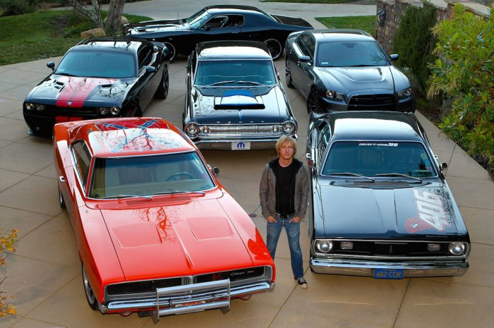 """Even rocker, Kenny Wayne Shepherd, who's roughly the same age as your author grew up watching the Dukes. His fascination with the show would ultimately help fuel the fire for him to become the huge Mopar enthusiast that he is today. To his right, you'll see his very own """"Exteme Lee"""" that's pays homage to the original, with a modern, pro-touring twist."""