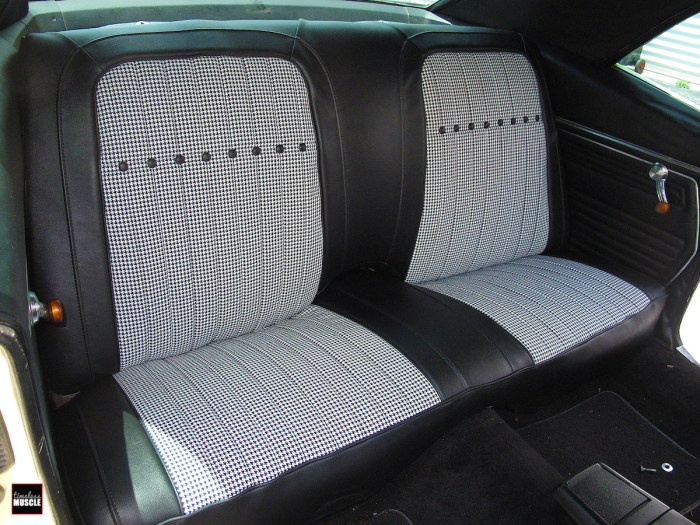 Once reassembled, the back seat slips right back in place.