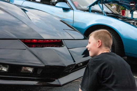 """This young guy was captivated by the red """"scanner"""" light that's been the car's signature appearance item since it first aired on T.V. some 33 years ago. Like they say, """"take a kid to a car show!"""""""