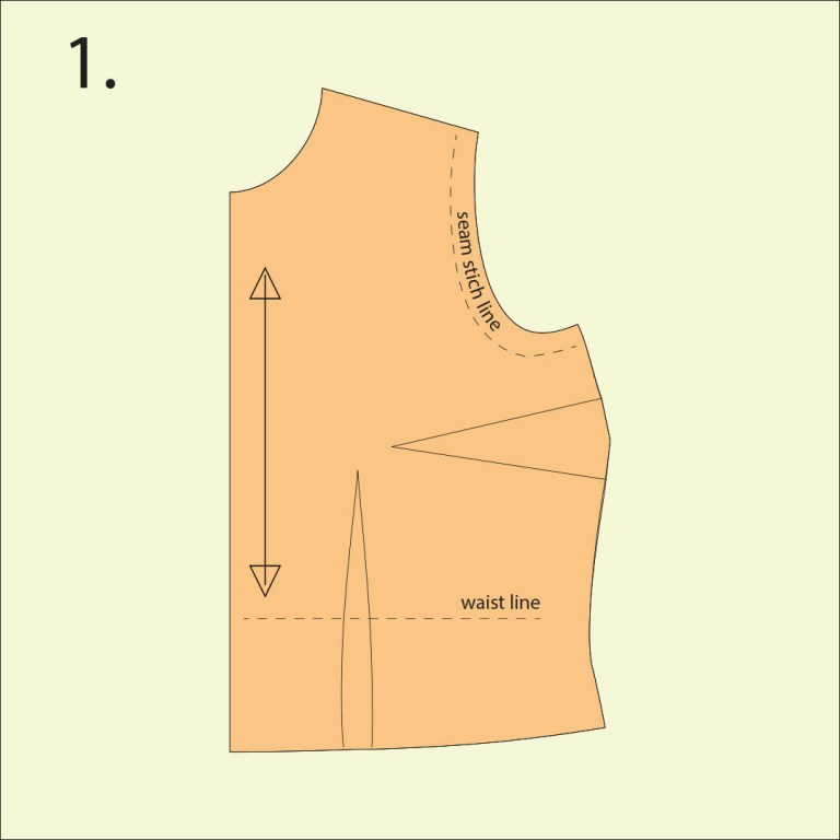 full bust adjustment of sewing pattern