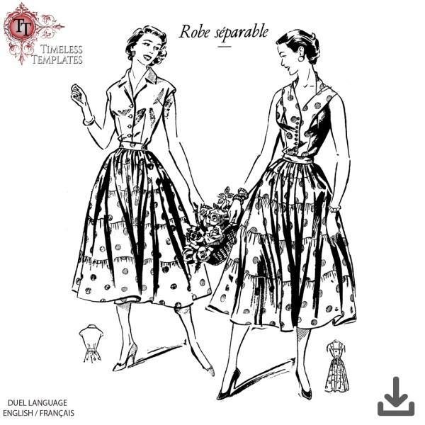 rare antique paris sewing pattern 1956