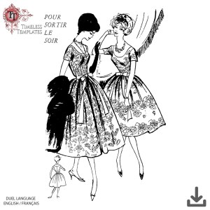 French 1959 sewing pattern couture vintage