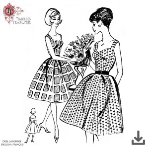 1960 summer dress original vintage sewing pattern