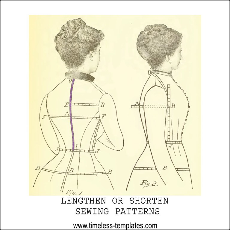 back length for pattern alterations