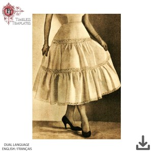 free mrs maisel sewing pattern 1950´s petticoat all sizes- plus size vintage