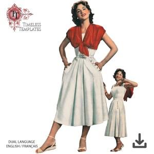 mrs maisel sewing pattern - bolero - skirt - sun top