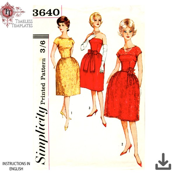 simplicity_3640 pdf instant download sewing pattern
