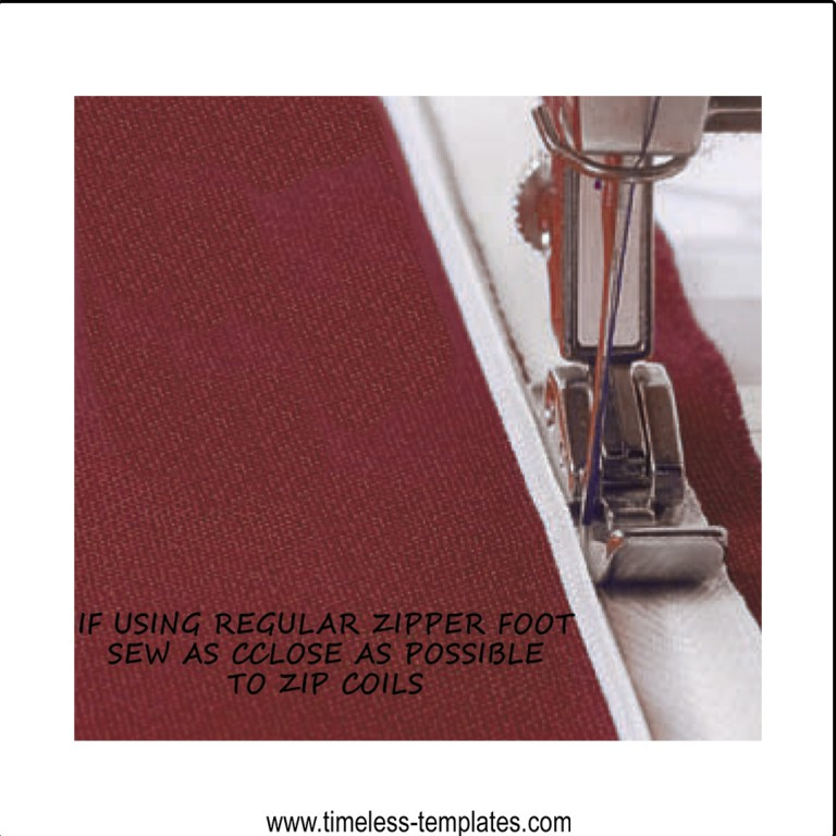 sewing invisible zipper with standard zipper foot