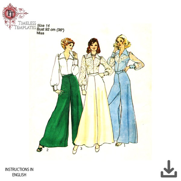1970´S FLARES SEWING PATTERN SIMPLICITY 6773