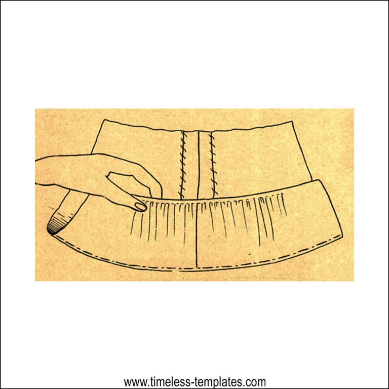 how to sew a hem on full circle skirt vintage way