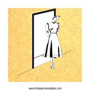 mark a hem in doorway with chalk string