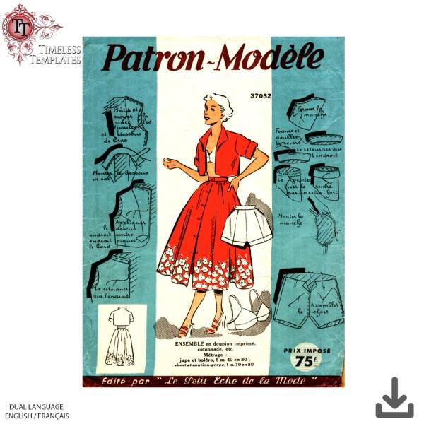 patron modele 37032 vintage sewing pattern
