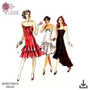 vogue 7095 cocktail dress vintage pattern