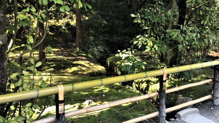 Throughout the garden at this Kinkaku-ji Pavilion in Kyoto, you will find lovely moss covered ground which adds to the softness of the luscious green.