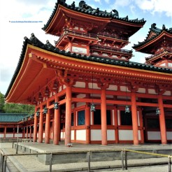 The architecture of Heian Shrine is incredible and well maintained.