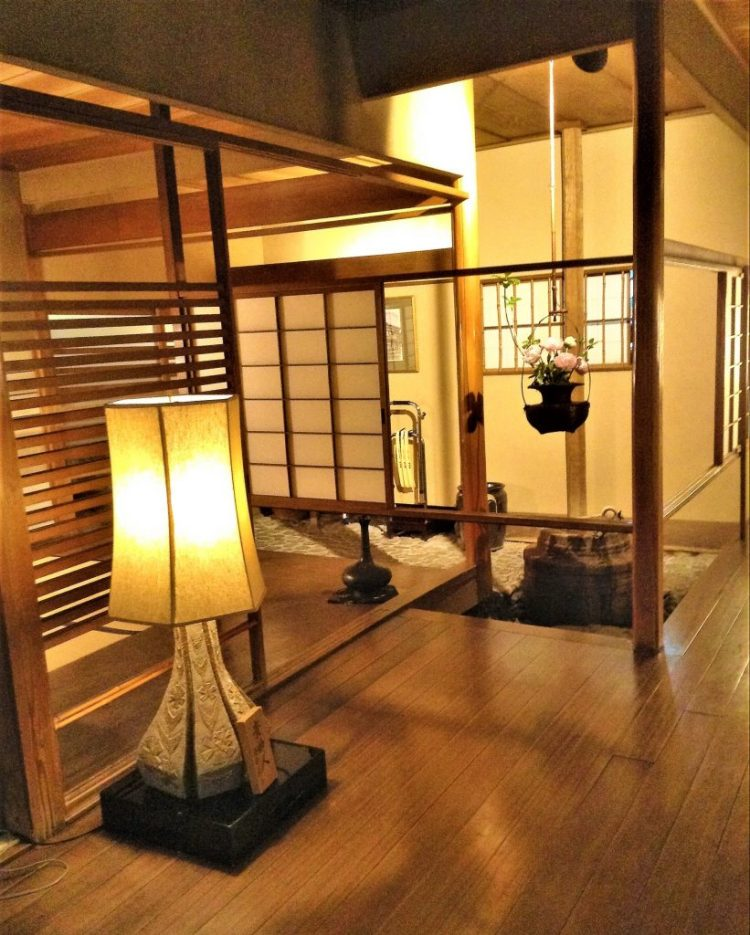 The warm interior of Yodofu Sagano