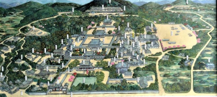 Picture of the extensive grounds of Mampuku-ji Temple